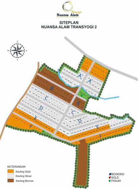 Siteplan Nuansa Alam Transyogi 2