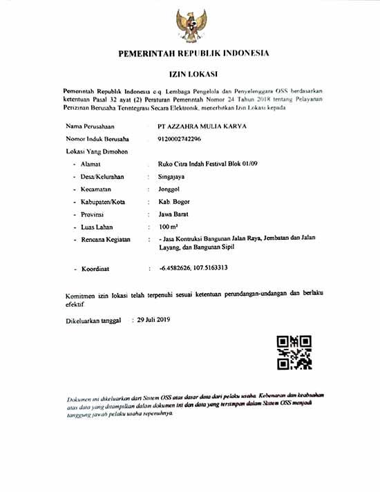 10 [azamtaproperti.com] Legalitas Azzahra Hiils Izin Lokasi