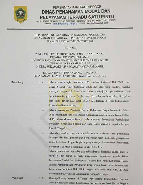 11 [azamtaproperti.com] Legalitas Azzahra Hiils Izin Lokasi