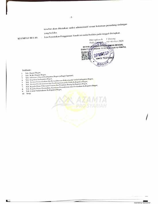 16 [azamtaproperti.com] Legalitas Azzahra Hiils Izin Lokasi
