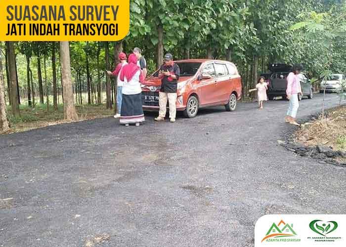 Suasana Survey Kavling Jati Indah Transyogi Tanah Murah Bogor