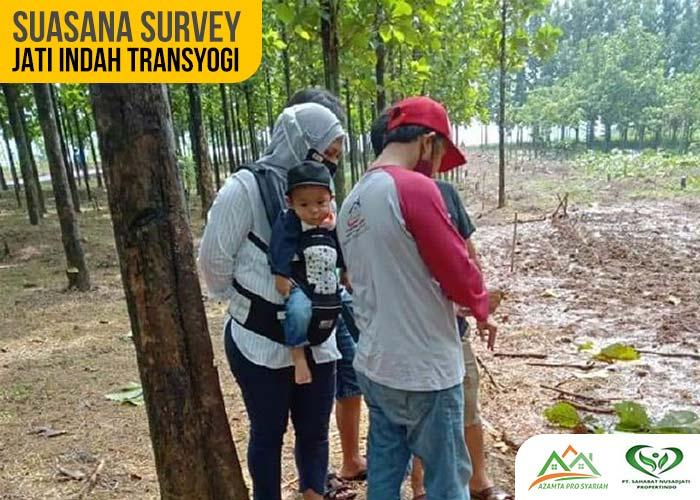 Suasana Survey Kavling Jati Indah Transyogi