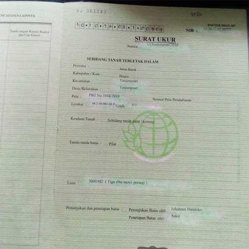 Serifikat SHM Kavling Jati Indah Transyogi - Azamta Properti