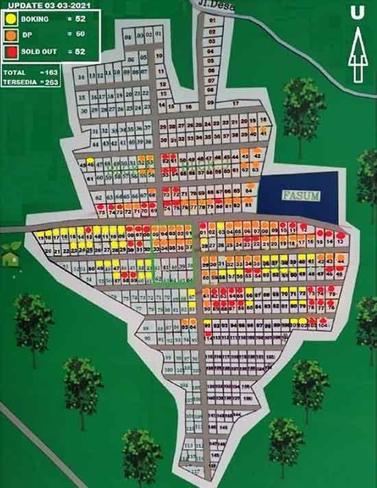[Azamta Properti] - Siteplan Kavling Jati Indah Transyogi update