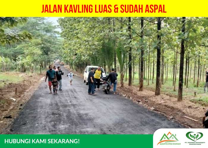 Kavling Jati Indah Transyogi - jalan kavling luad dan sudah diaspal