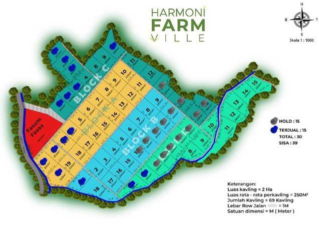 Siteplan Harmoni Farm Ville