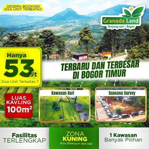 Granada Land Kavling Eduwisata Bogor - Fasilitas Lengkap Harga Murah